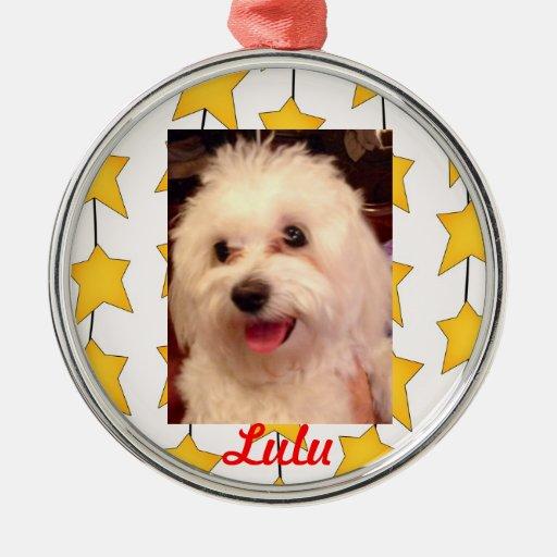 Shaggy White Dog Ornament Ornament
