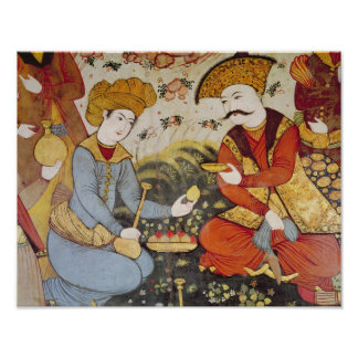 Shah Abbas I  and a Courtier Print