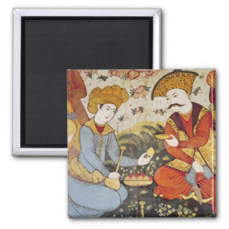 Shah Abbas I  and a Courtier Square Magnet