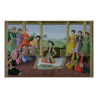 Shah Suleyman II  and his courtiers Poster