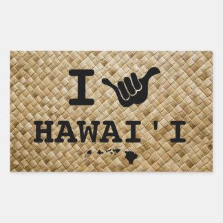 Shaka for Hawaii Rectangular Sticker