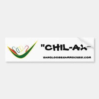 "Shaka_hammock, ""CHIL-AX""bumper sticker Car Bumper Sticker"