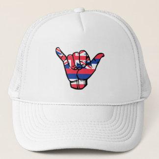 Shaka Hawaii Flag Trucker Hat