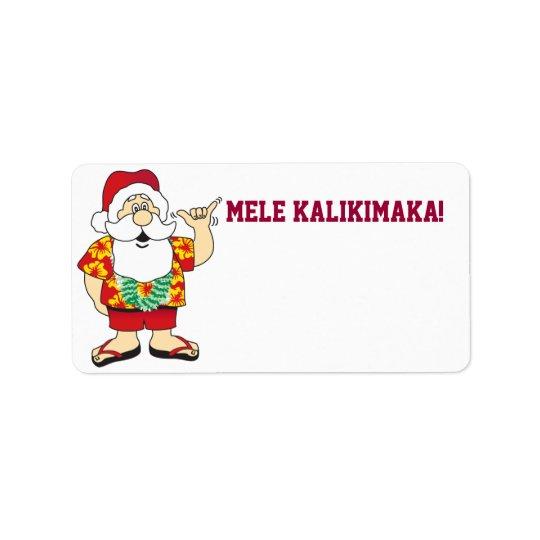 shaka santa ~ label address label