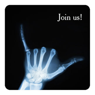 Shaka Sign X-Ray (Hang Loose) Card