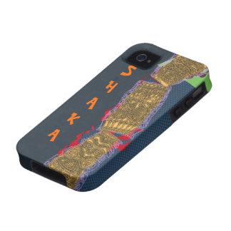 Shaka Tiki Totem Low Brow Luau - Case-Mate iPhone 4 Cases