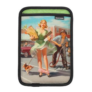 Shake down funny retro pinup girl iPad mini sleeve
