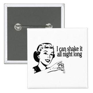 Shake It All Night Long Retro 15 Cm Square Badge