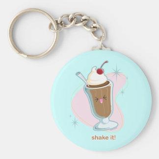 Shake It! Basic Round Button Key Ring
