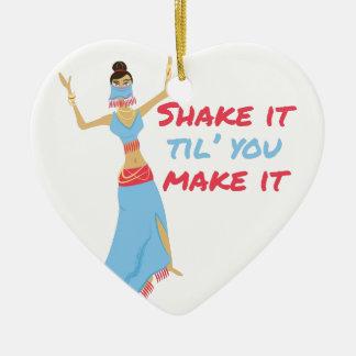 Shake It Ceramic Ornament