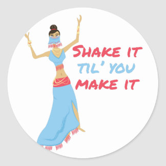 Shake It Classic Round Sticker