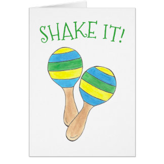 Shake It! Maracas Musical Instrument Celebration Card