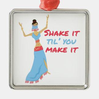 Shake It Metal Ornament