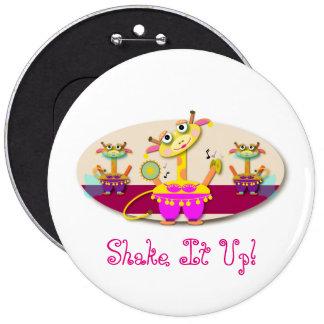 Shake It Up Bellydancing Giraffes 6 Cm Round Badge