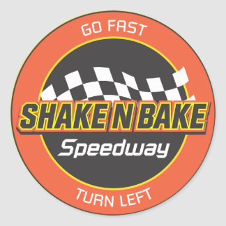 Shake n Bake Speedway Decal (revised) Classic Round Sticker