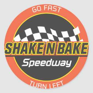 Shake n Bake Speedway decal Round Sticker