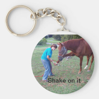Shake On It Basic Round Button Key Ring