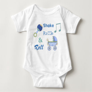 Shake Rattle and Roll Baby Boy's Bodysuit