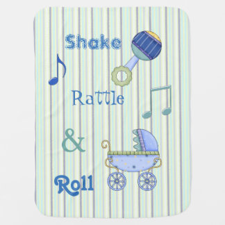 Shake, Rattle, and Roll Boys Baby Blanket