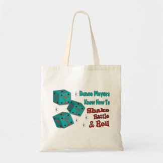 Shake, Rattle and Roll Martinit Dice Bunco Design Tote Bag