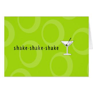 """""""Shake Shake Shake"""" Martini Greeting Card"""