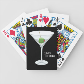 Shaken Not Stirred Vodka Martini Glass Cocktail Bicycle Playing Cards