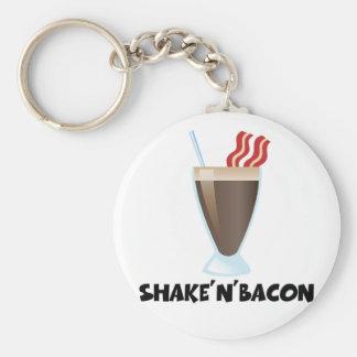 Shake'n'Bacon Basic Round Button Key Ring