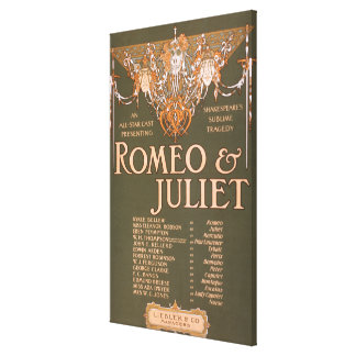 Shakepeare s Sublime Tragedy Romeo Juliet Canvas Print