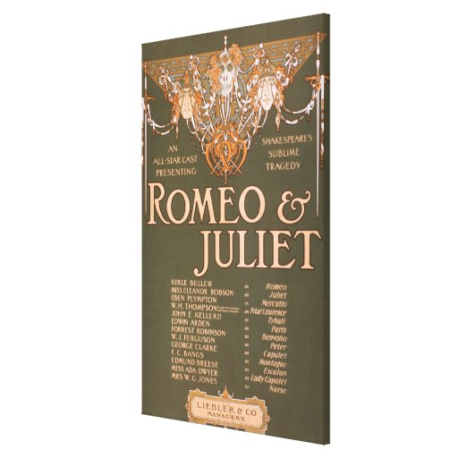 """Shakepeare's Sublime Tragedy """"Romeo & Juliet"""" Canvas Print"""