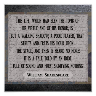 Shakespeare 12 x 12 --- Art print - quote