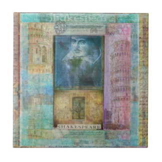 Shakespeare art customize with  favorite quotation ceramic tile