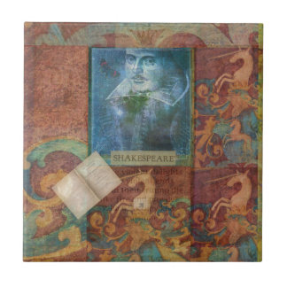 Shakespeare art customize with favorite quotation small square tile