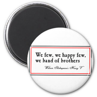 Shakespeare: Band of Brothers 6 Cm Round Magnet