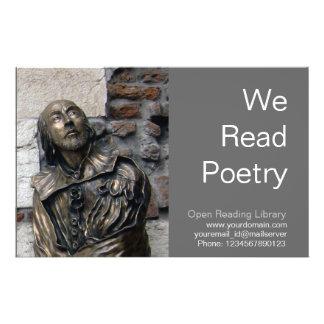 Shakespeare Bust of Verona 14 Cm X 21.5 Cm Flyer