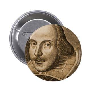 Shakespeare Droeshout Engravings 6 Cm Round Badge
