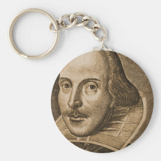 Shakespeare Droeshout Engravings Basic Round Button Key Ring