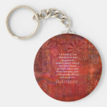 Shakespeare FRIENDSHIP Quote Basic Round Button Key Ring
