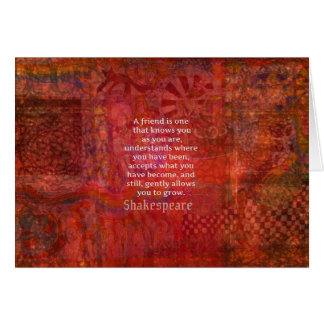 Shakespeare FRIENDSHIP Quote Card