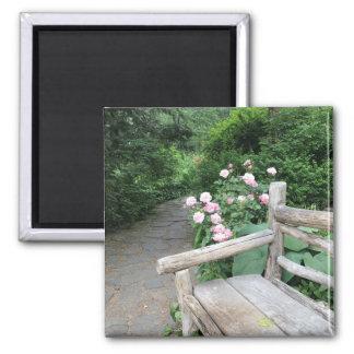 Shakespeare Garden Bench Roses Central Park NYC Magnet