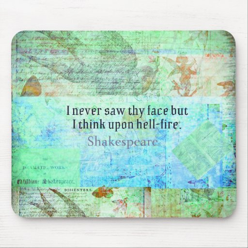 Shakespeare HELL FIRE Insult  from Henry IV Mouse Pad