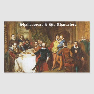 Shakespeare & His Characters Stickers