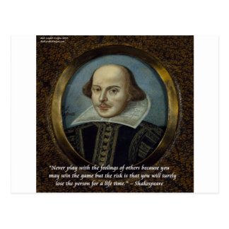 Shakespeare & His Famous Feelings Quote Postcard