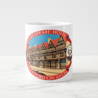 Shakespeare Hotel, Stratford on Avon Luggage Label Large Coffee Mug