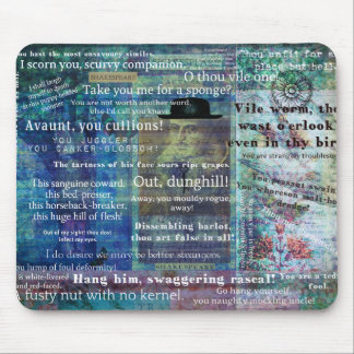 Shakespeare humorous Insults Mouse Pad