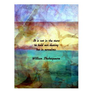Shakespeare Inspirational Quote About Destiny Postcard