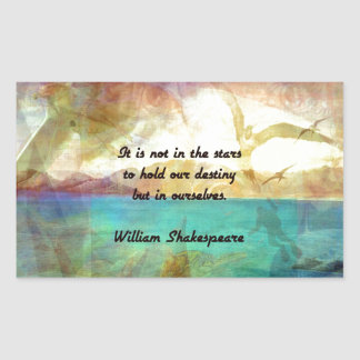 Shakespeare Inspirational Quote About Destiny Rectangular Sticker