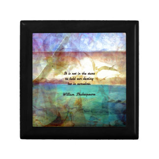 Shakespeare Inspirational Quote About Destiny Small Square Gift Box