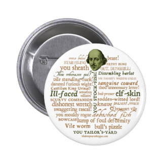 Shakespeare Insults Collection Pins