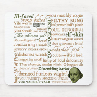 Shakespeare Insults Collection Mousepads