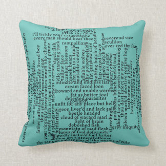 Shakespeare Insults List Funny Theatre Cushion